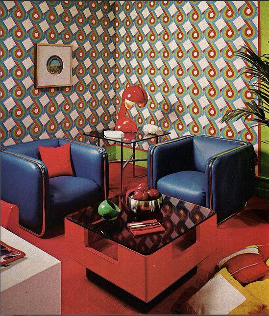Seventies interior design the 70 39 s pinterest for Decoracion 70 s