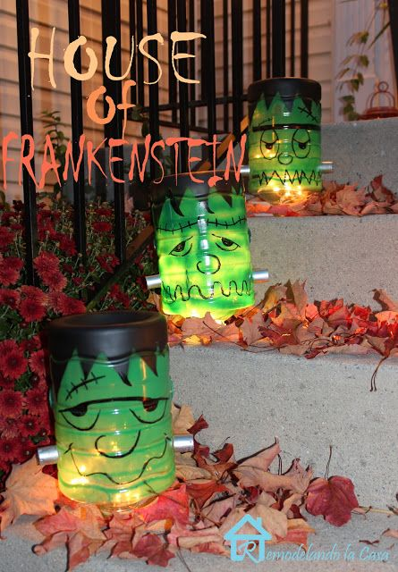 Remodelando la Casa: Frankenstein Decorations for Halloween