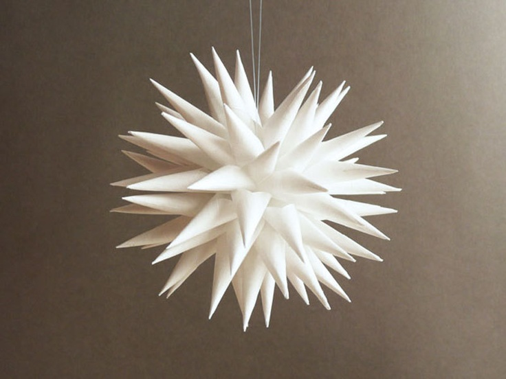 polish star christmas tree decoration holiday ornament