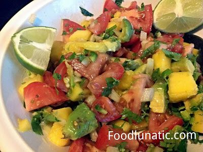 Mango Avocado Salsa #recipe. Great with grilled chicken or crispy ...