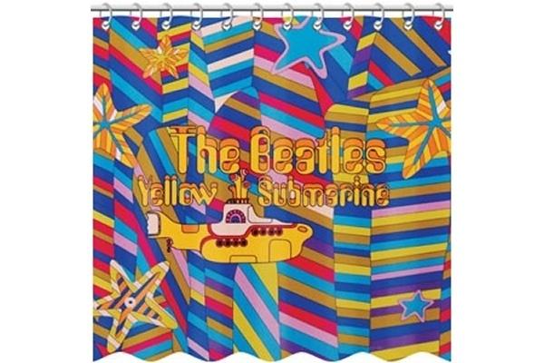 pretty cool... beatles yellow submarine shower curtain