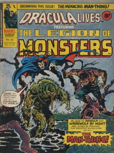 Lives 1974 series 62 unique uk marvel cover legion of monsters