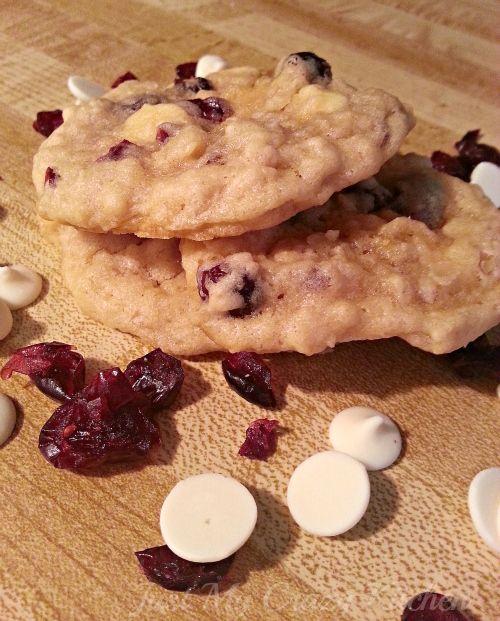 White Chocolate Cran Orange Cookies