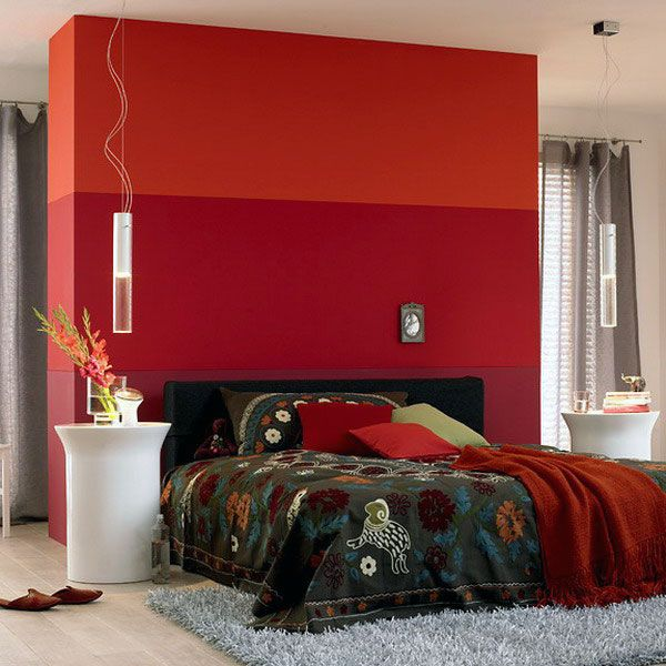 Red Bedroom Ideas With Grey Rugs Home Pinterest