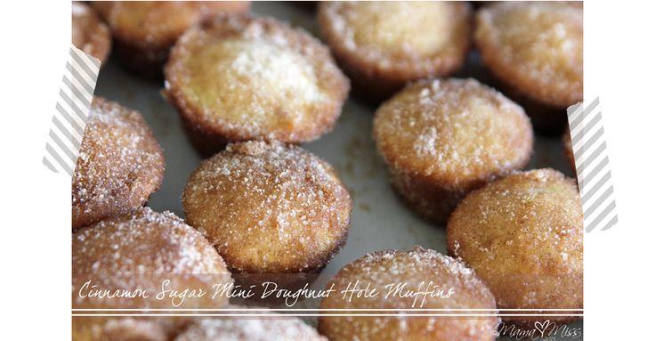 Cinnamon Sugar Mini Doughnut Hole Muffins | Recipe