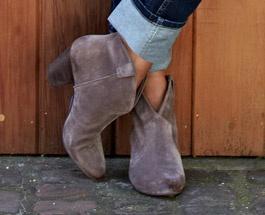 Suede boots, Baukjen
