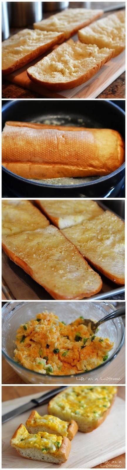 Garlic Cheese Bread - Fork say | Food | Pinterest