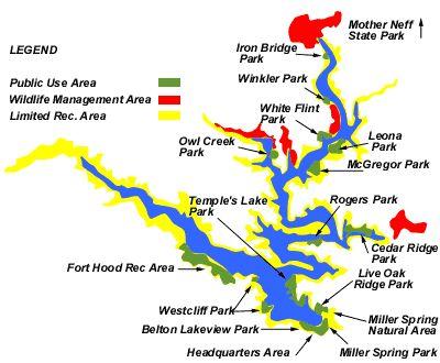 Lake belton map texas pinterest for Belton lake fishing