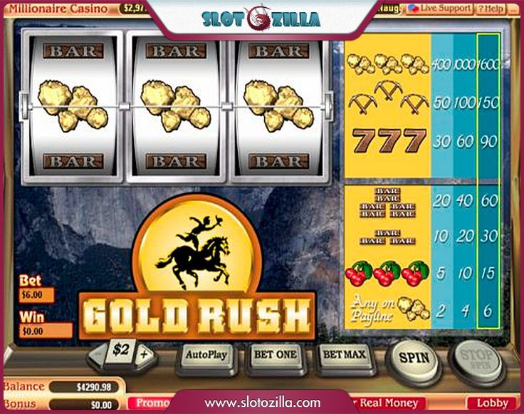 pch gold rush slots