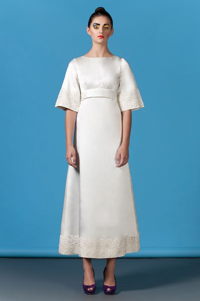 Nice 60s style wedding dress because it will happen eventually p