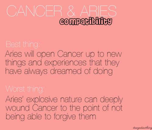 cancer woman and aries relationship