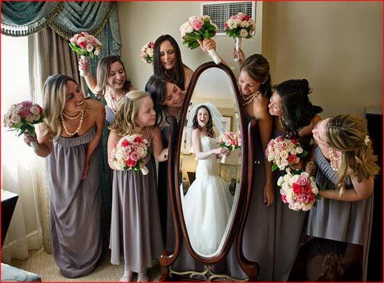 Mirror Reflection bridal party