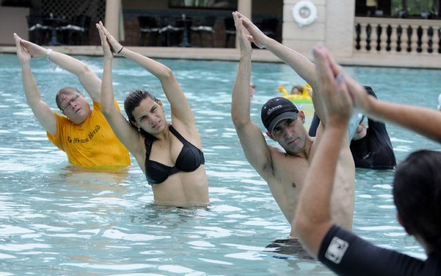 Read This: Hydro-Pilates pool class burns the core and keeps you cool - Health - MiamiHerald.com Shop at www.nutrasource.com for healthy supplements/vitamins! #Exercise #Physical #Pool #Summer