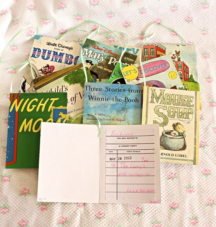 DIY book themed party invitaions-tutorial  Book Themed Party-