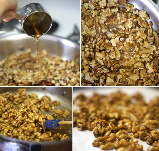 Maple glazed walnuts - I can't wait to make these with some delish ...