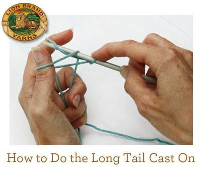 How To Cast On Knitting Stitches Long Tail : LONG TAIL CAST ON KNITTING Free Knitting Projects