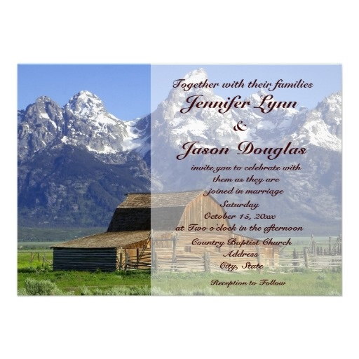 Rustic Barn Rocky Mountain Wedding Invitations