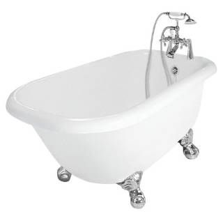 Check out the American Bath Factory T050B Trinity Bathtub in White with 90 Series Faucet priced at $2,170.08 at Homeclick.com.