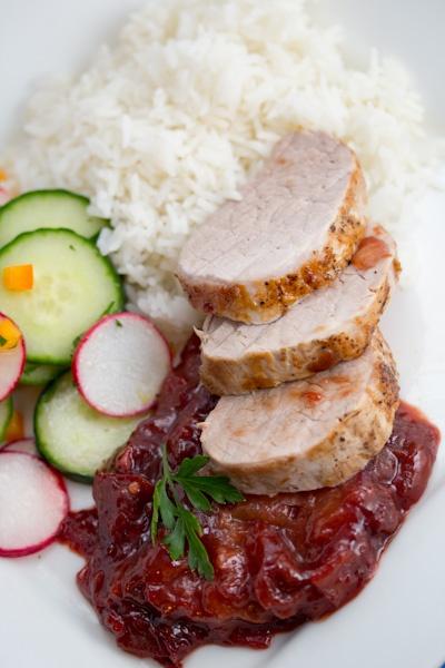 Roasted Pork Tenderloin w/plum sauce | Makan Makan | Pinterest