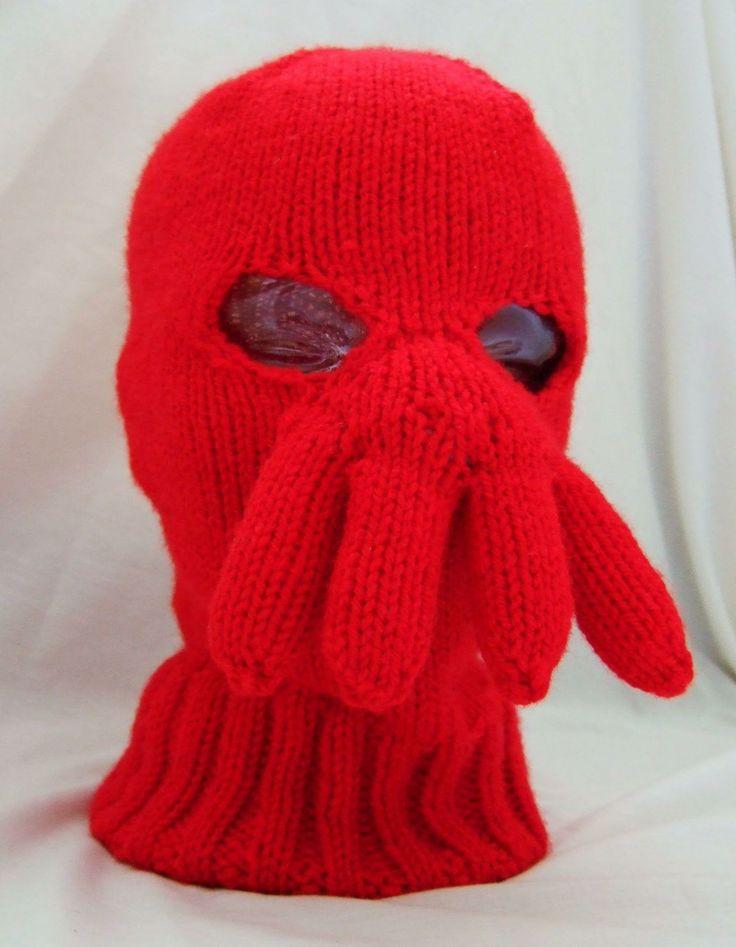 Ski Mask Knitting Pattern : Dr Zoidberg ski mask Free and Fun Knitting Patterns Pinterest