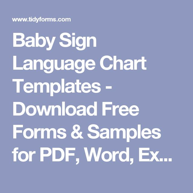 Baby Sign Language Chart Template Sign Language Wall Chart Letter - baby sign language chart template