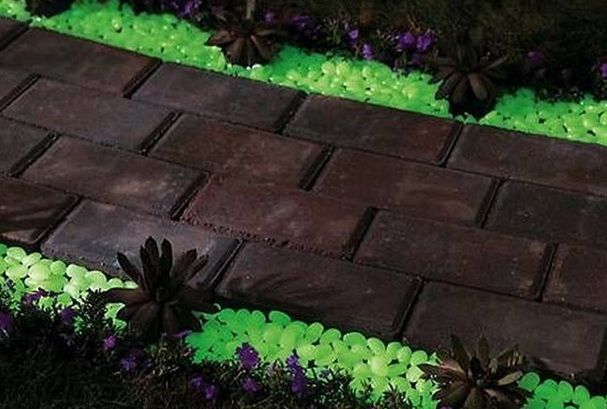 glow dark exterior paint glow in the dark gravel to illuminate any. Black Bedroom Furniture Sets. Home Design Ideas