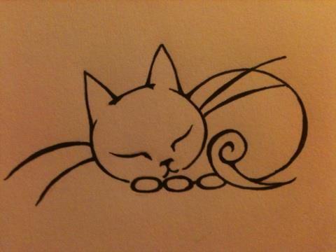 Нарисованные коты для тату