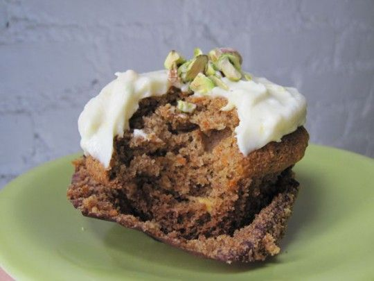 Carrot Pistachio Cupcakes with Citrus Frosting - use substitutes for ...