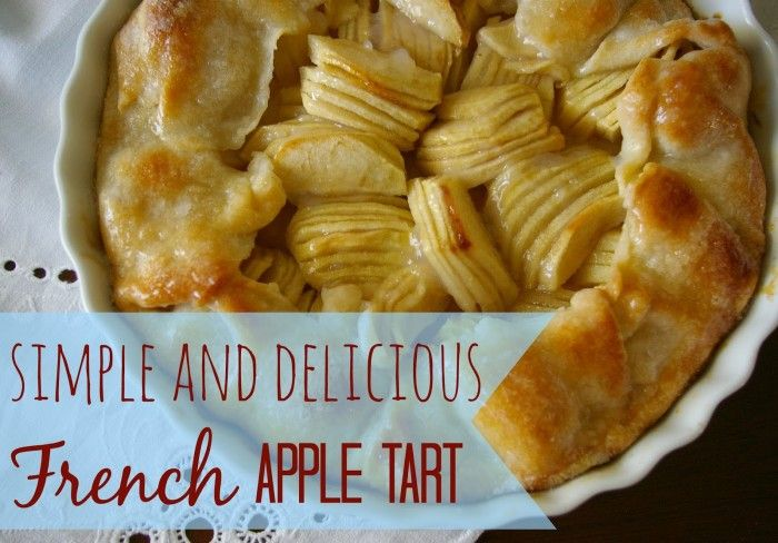 French Apple Galette AKA easy free form apple tart - A girl and a glue ...