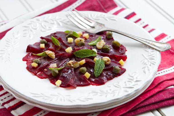 how to make vegan carpaccio recipes dishmaps carpaccio beef carpaccio ...