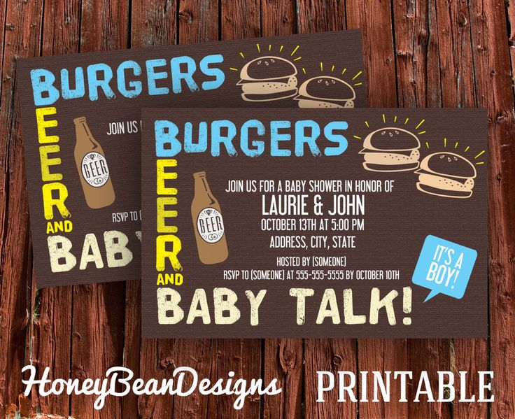 couples baby shower beer party invitations by honeybeandesigns