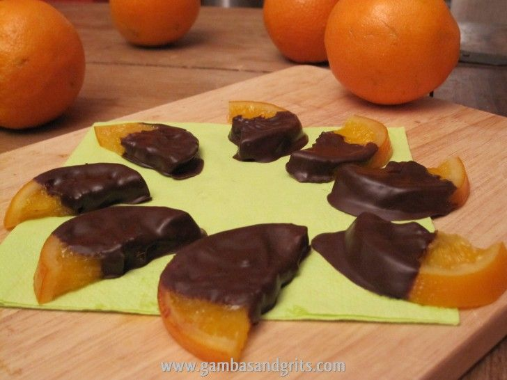 Chocolate Covered Candied Orange Slices | Gambas and Grits: A Texas ...