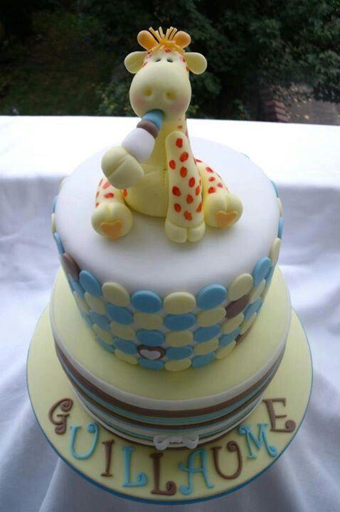 giraffe baby shower cake cakes pinterest