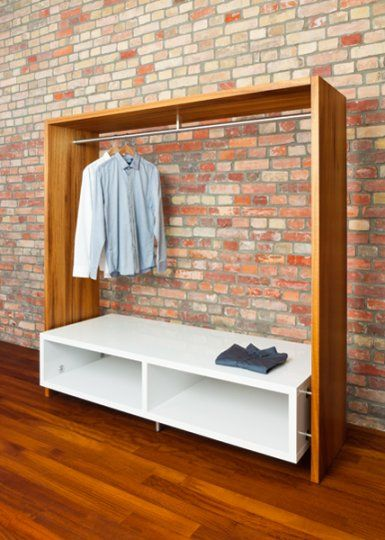 No closet easy solution the house i 39 ve always wanted No closet hanging solutions