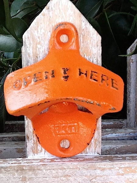 Industrial Retro Cast Iron Soda Pop Bottle by AlacartCreations, $8.50    love the orange!!