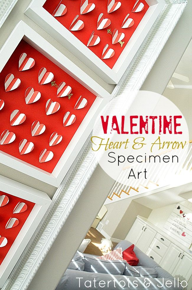 valentine Heart and Arrow Specimen Art