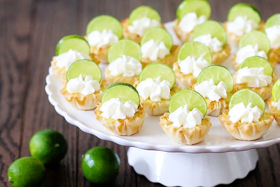 ... key limes, sliced into thin coins for garnish - - Blend yolks, milk
