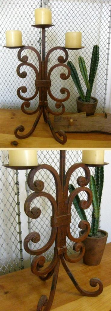 Rusty Iron Candleholder