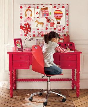 Kid Girl Desk : little girls desk / area - cute  Girl kids!  Pinterest