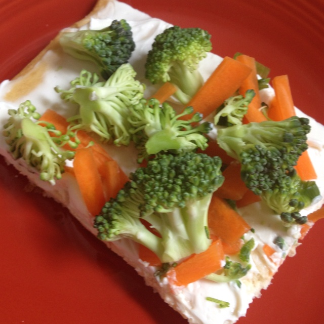 ... pizza sauce but not too thick. 4⃣Fresh Veggies like carrots and
