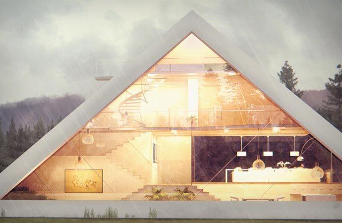Pyramid House Design Architecture Architectural