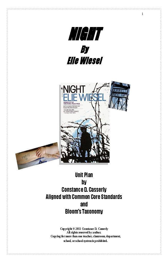 eile wiesels night essay 10 essay questions based on elie wiesel's 'night' useful for student assignments or exams higher level questions.