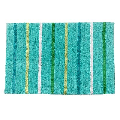Excellent Threshold Curvy Geo Bath Rug  Turquoise 20x34quot Product Details