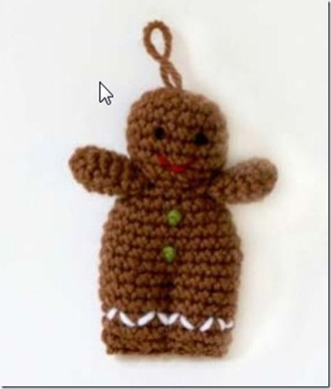 Free Crochet Pattern For Gingerbread Man : Pin by Ilene Welch Hess on crocheting Pinterest