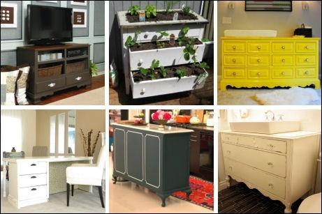 Repurposed Dressers | Furniture ideas | Pinterest