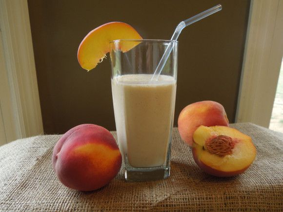 Peaches and Cream Oatmeal Smoothie Makes 2 servings 1/2 cup ice 1 ...