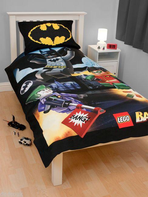 Lego Batman 39 BANG 39 Single Duvet Cover Quilt Set Boys