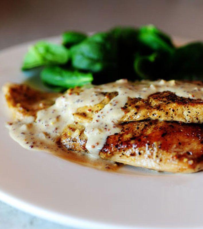 Chicken with Mustard Cream Sauce   Poultry: Chicken   Pinterest