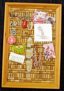 Home-made pin board