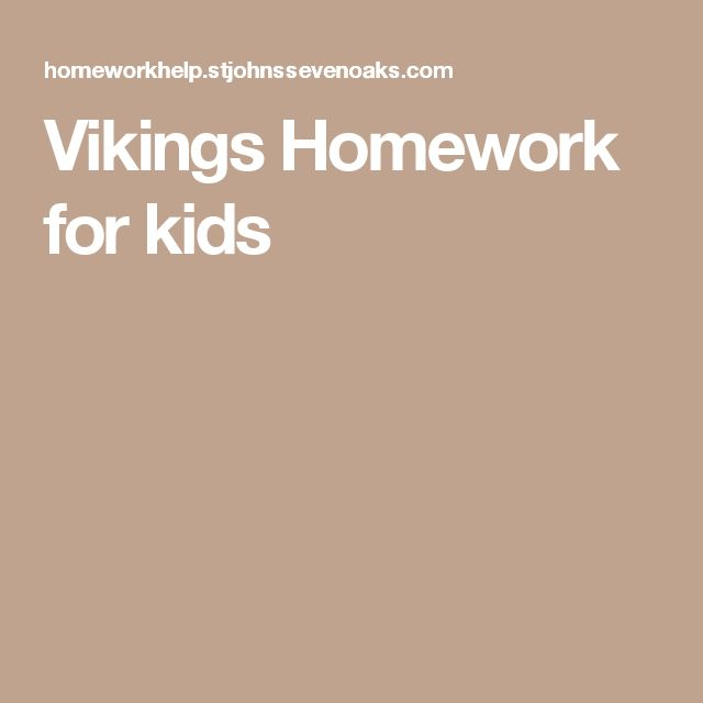 facts about vikings for homework
